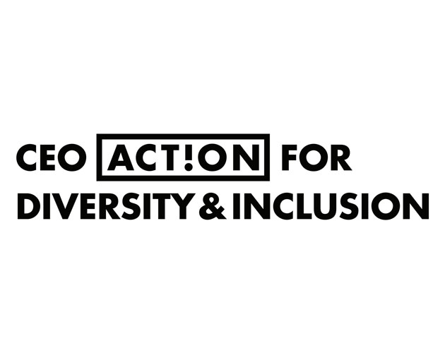 Black and white CEO Action for Diversity & Inclusion™ logo