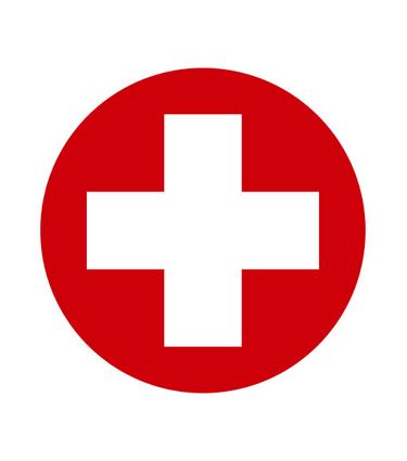 Red and white medical cross icon