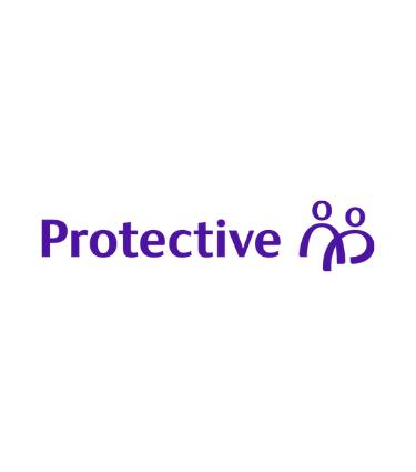 New Protective logo with indigo text on white background