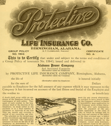 photo of old life insurance policy