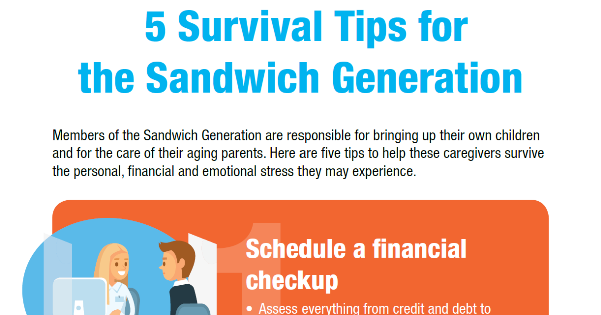 Sandwich generation tips infographic