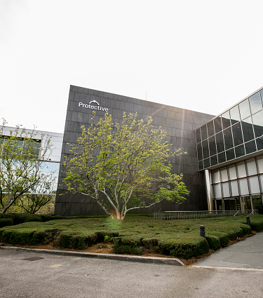 Exterior photo of the current Protective Life building in Birmingham, AL