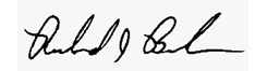 Signature of Richard Bielen