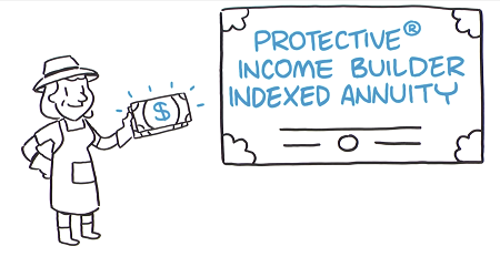 Whiteboard video for Protective Income Builder.